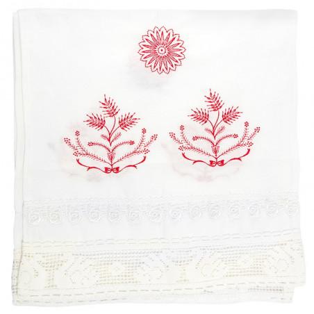 Рушник венчальный (бязь, вышивка, кружево)