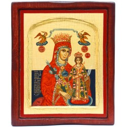 Икона (170х210) шелкография ручной работы на дереве. Греция