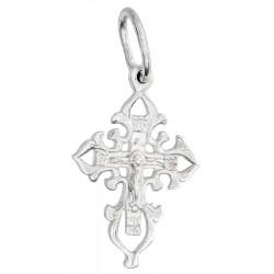 Нательный серебряный крест 40590