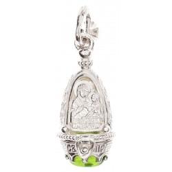 Ладанка-ароматница серебряная, Божья Матерь Казанская, 5116