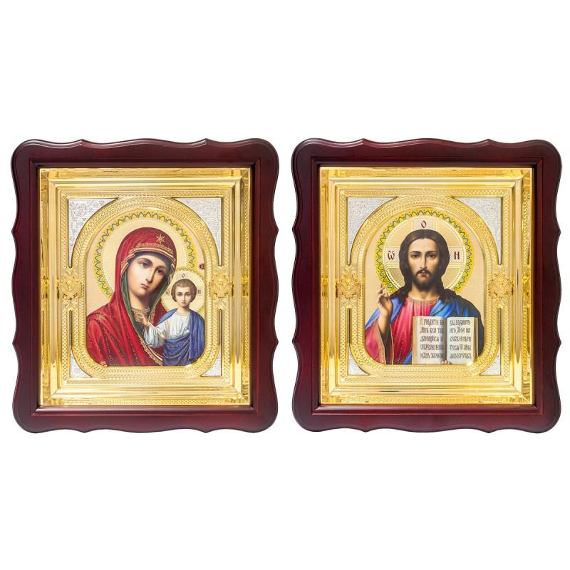 Пара икон Божья Матерь Казанская и Спаситель 17572