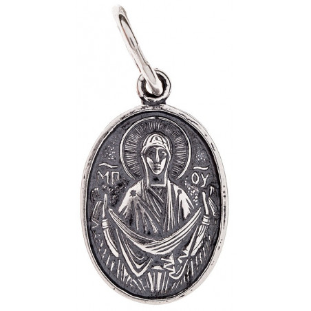Серебряная подвеска Божья Матерь «Покрова» 16-066