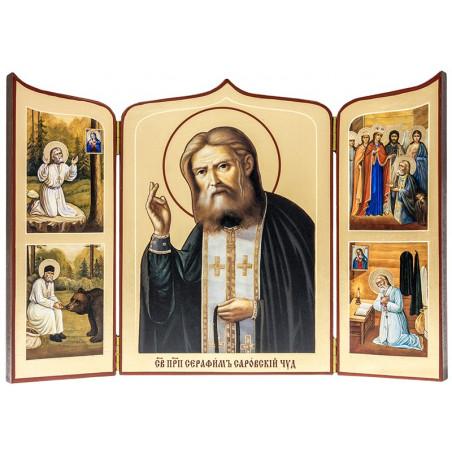 Складень Святой Серафим Саровский