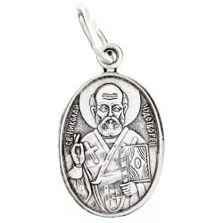 Серебряная подвеска Святой Николай Чудотворец 16-011