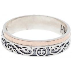 Серебряное кольцо с молитвой внутри