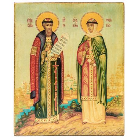 Икона Святые благоверные князь Петр и княгиня Феврония