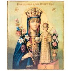 Икона Божией Матери Неувядаемый Цвет (11х13)
