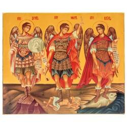 Икона Архангелы Михаил, Гавриил и Рафаил 15х18 см