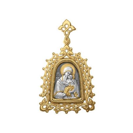 """Иконка Божией Матери """"ЯРОСЛАВСКАЯ"""" (в ажурной оправе) ИС023"""