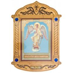 Икона  литография, с ладаном, на дереве, оргстекло