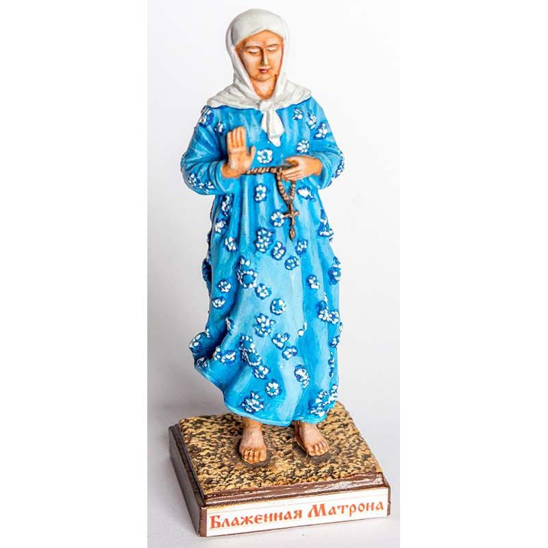 Миниатюра № 087р(у)  Матрона Московская св. (роспись)  в деревянной упаковке ( к.8287)