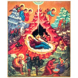 Икона «Рождество Христово» (15х18)