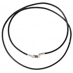 Кожаный шнурок для крестика с серебряной застежкой 6010/1,8