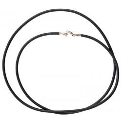 Каучуковый шнурок для крестика с серебряной застежкой 6010/2,5