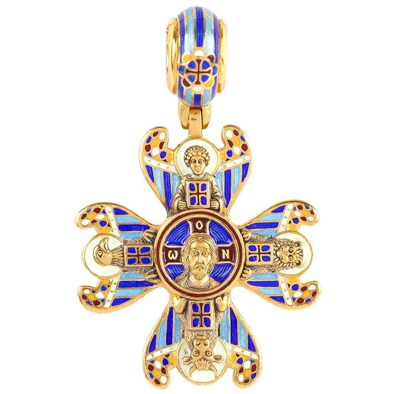 Крест «СПАС НЕРУКОТВОРНЫЙ С СИМВОЛАМИ ЕВАНГЕЛИСТОВ» КС078