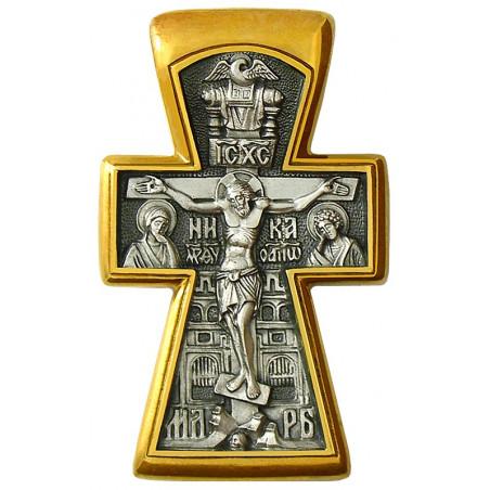 """Крест """"РАСПЯТИЕ. БОГОЯВЛЕНИЕ"""" КС044"""