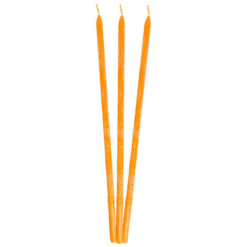 Свеча восковая оранжевая (ручнай работа)