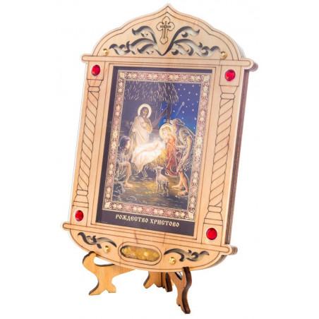 Икона «Рождество Христово» на подставке