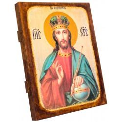 Икона Спаситель в короне 24х30 см