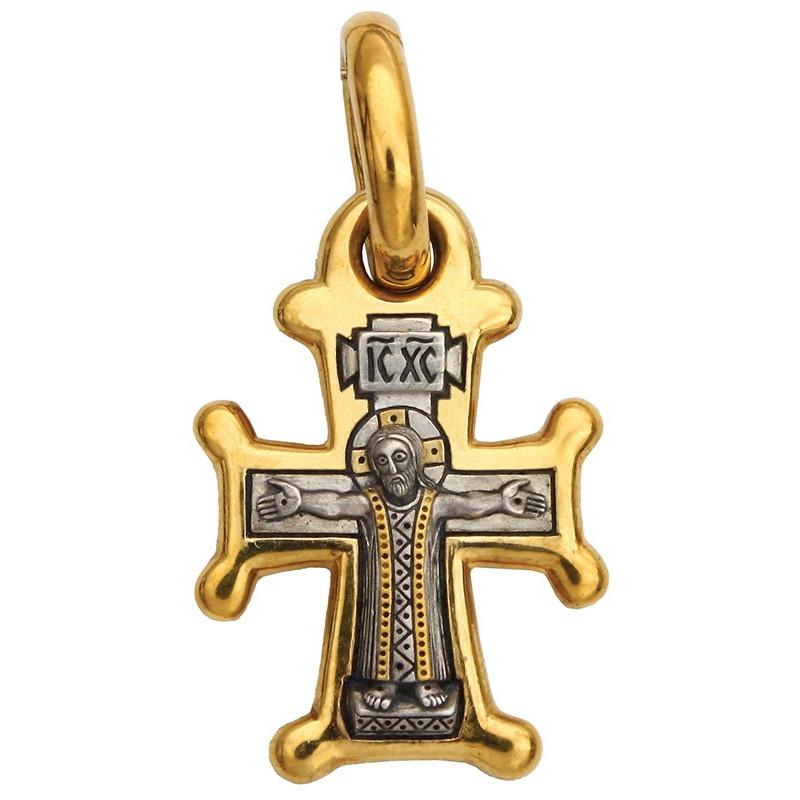 """Крест """"РАСПЯТИЕ. БОЖИЯ МАТЕРЬ ОРАНТА (СИРИЙСКИЙ)"""" КС087"""