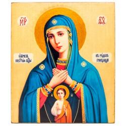 Икона Божией Матери «Помощница в родах» 11х13 см