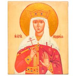 Икона Святая Людмила 11х13 см