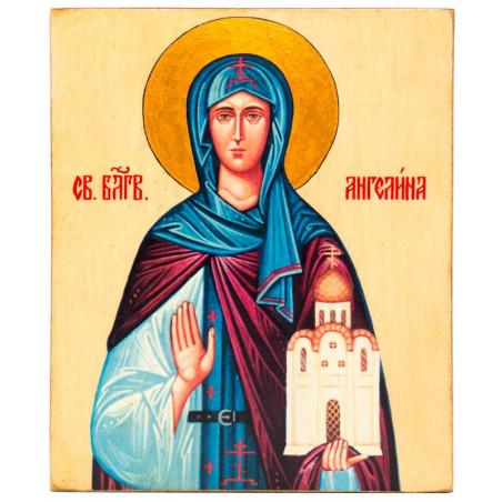 Икона Святая Ангелина 15х18 см