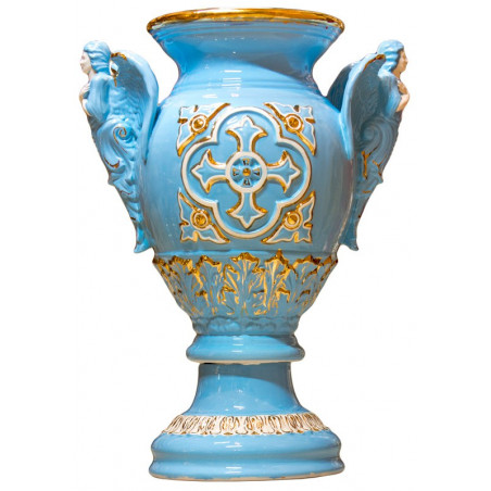 Керамическая напольная ваза с Ангелами