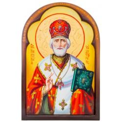 Писаная икона Святой Николай Чудотворец 24х35 см