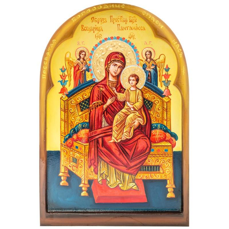 Писаная икона Божией Матери «Всецарица» 30х44 см