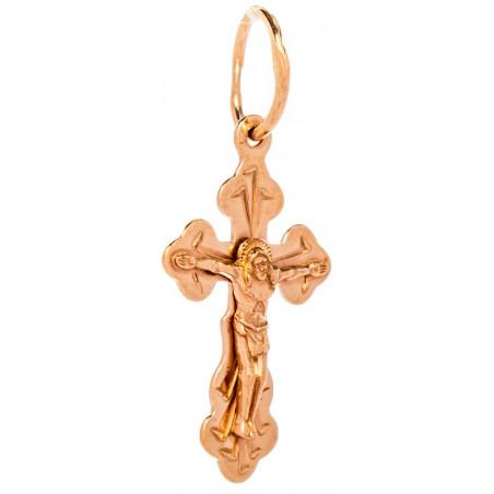Нательный серебряный крест с позолотой 311101-З