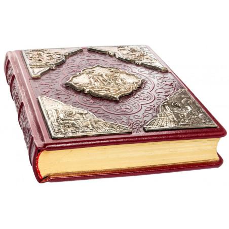 Евангелие в кожаном переплете на церковнославянском языке