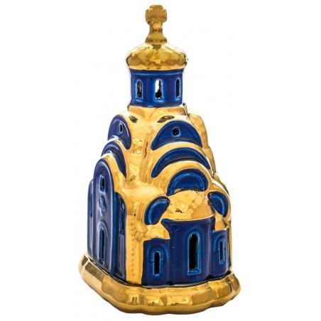 Керамическая настольная лампада «Церковь»