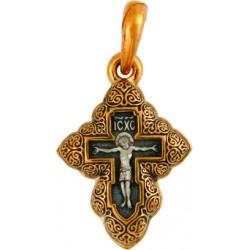 Крест «РАСПЯТИЕ. ГОЛГОФСКИЙ КРЕСТ С МОЛИТВОЙ» КС049