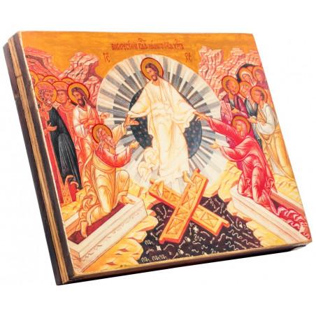 Икона Воскресение Христово (горизонтальная) 15х18 см