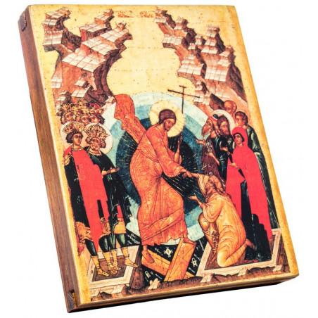 Икона Воскресение Христово (точная копия иконы 1497) 15х18 см