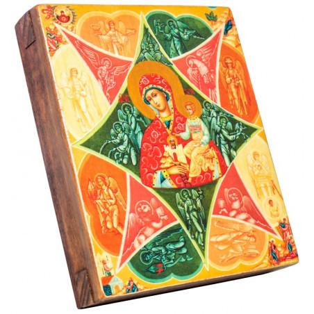 Икона Божья Матерь «Неопалимая Купина» 11х13 см