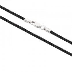 Шелковый шнурок для крестика с серебряным замком 6010/2