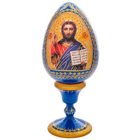 Яйцо сувенирное с иконой, деревянное, ручная роспись (12678)
