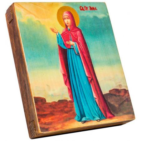 Икона Святая Праведная Анна (ростовая) 11х13 см