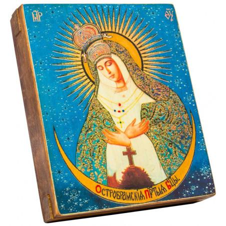 Икона Божией Матери «Остробрамская» 11х13 см