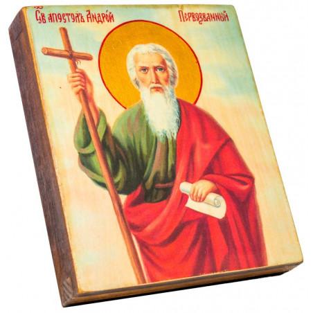 Икона Святой апостол Андрей Первозванный 11х13 см