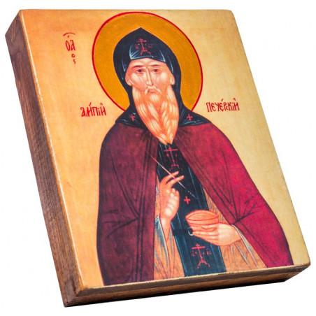 Икона Святой преподобный Алипий Печерский 11х13 см