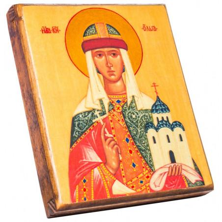 Икона Святая Ольга (18986) 11х13 см