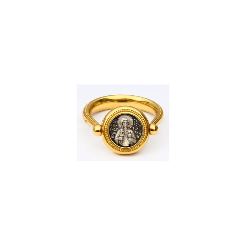 Перстень с иконой «СВЯТАЯ АНАСТАСИЯ УЗОРЕШИТЕЛЬНИЦА» ПС080