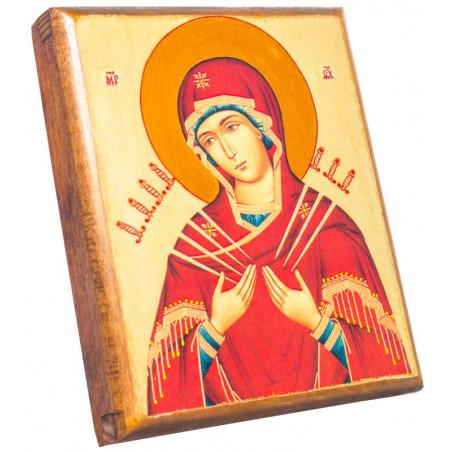 Иконы Божьей Матери «Семистрельная» 11х13 см