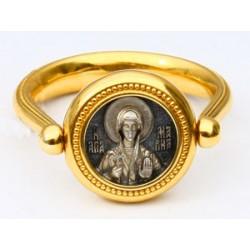 Перстень с иконой «СВЯТАЯ ВЕЛИКОМУЧЕНИЦА МАРИНА» ПС088