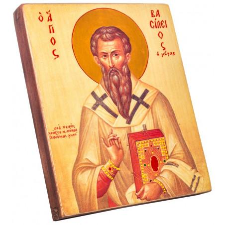 Икона Святой Василий Великий 15х18 см