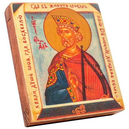 Икона Святой Давид Пророк 11х13 см