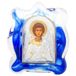 Икона в муранском стекле Ангел Хранитель 6х8 см (Греция)